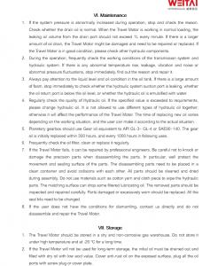 travel motor manual p3